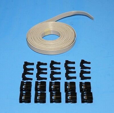 IDC Cable Ribbon Cable Connector Kit 12 Ft 6-Pin (2x3) , Fast ship from USA