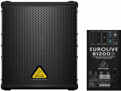 "Behringer B1200D Pro Subwoofer Attivo 12"" Con Crossover Stereo 500W"