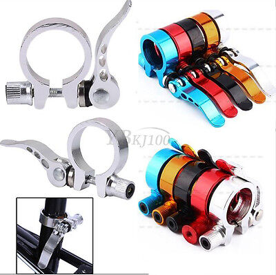 31.8mm 34.9mm MTB Bike Bicycle Cycling Saddle Seatpost Clamp Quick Release Style