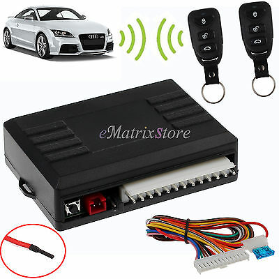 Universal Car 2 Remote Central Door Locking Kit DT Vehicle Keyless Entry System
