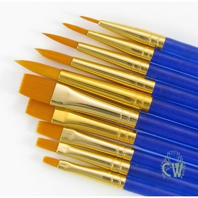 Royal 10 Brushes Value Set. For Artists Watercolour Acrylic & Oil Painting SVP7