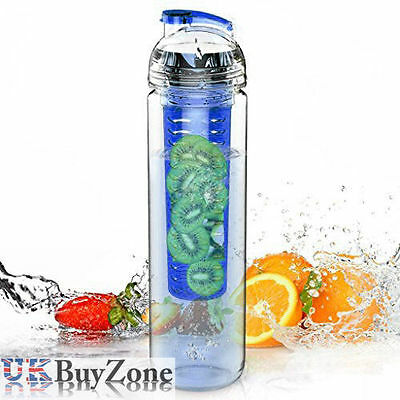 700ml Fruit Infusing Infuser Infusion Water Sports Drinks Juice Bottle BPA FREE
