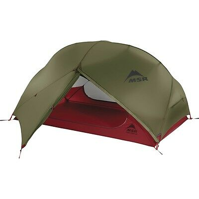 MSR Hubba Hubba NX 2016 Green Two Person Lightweight Compact Motorcycle Tent