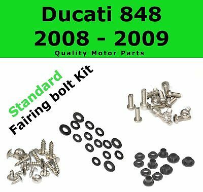 Fairing Bolt Kit body screws fastener for Ducati 848 2008 - 2009 Stainless 1098