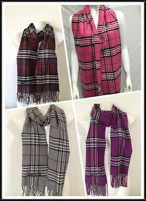 Wholesale 4Pcs 100% Cashmere Scarf Made In Scotland Plaid Design Lot5
