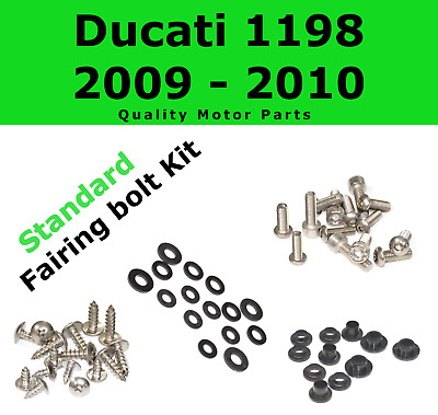 Fairing Bolt Kit body screws fasteners for Ducati 1198 2009 - 2010 Stainless