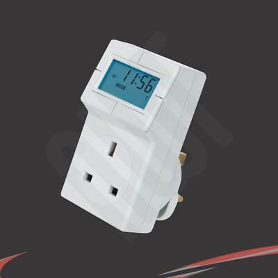 """3 Pin """"Plug-In"""" Electronic Thermostat and 24hr Digital Timer"""