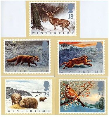 GB - Mint PHQ Cards - 1992 - Wintertime