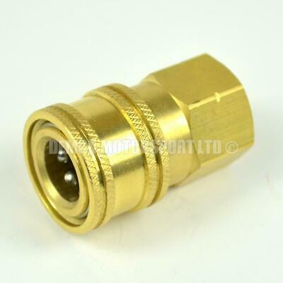 Pressure Washer Quick Release Socket Mini 11.6mm to 1/4 female Brass Coupling