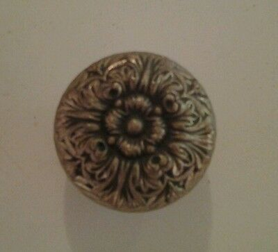 Antique Victorian Brass Doorknob Eastlake Ornate Door Hardware Knob #8