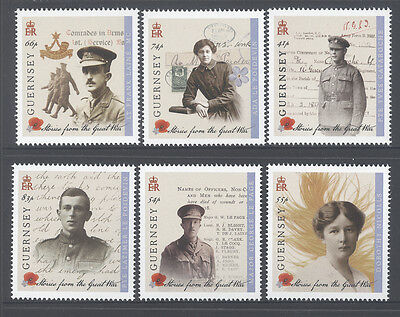 Guernsey 1914 Great War Stories Part 1 Mnh Dignified Set Of 6