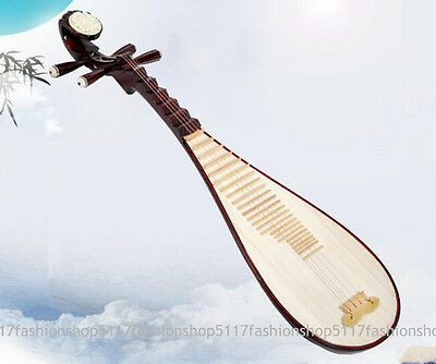 Chinese Wood Lute Pipa Guitar String Musical Instrument for Beginner adult&child