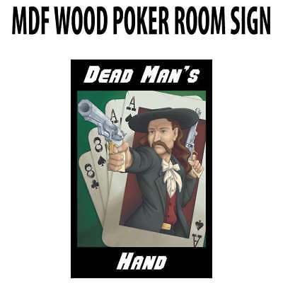 Poker Room art decor Wood Poster Signs : Dead Man's Hand