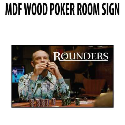 Poker Room art decor Wood Poster Signs : Rounders KGB