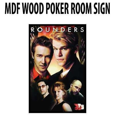 Poker Room art decor Wood Poster Signs : Rounders Crew