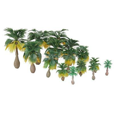 15pcs Layout Model Train Coconut Palm Trees Forest Scale N Z 1:100-1:300