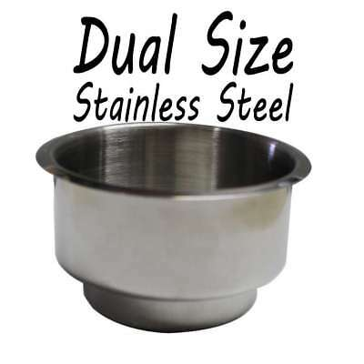Poker Table Stainless Steel Dual size Cup Holder