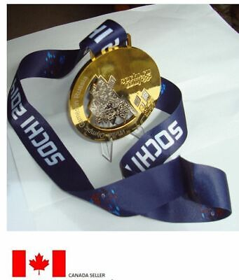 Sochi 2014 Olympic 'Gold' Medal + Silk Ribbons + Display Stand !!!