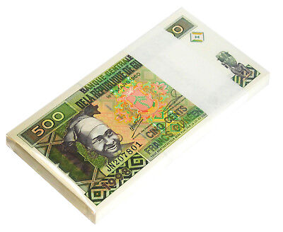 Guinea 500 Francs 1998 P 36 Unc Bundle Of (100 Notes)