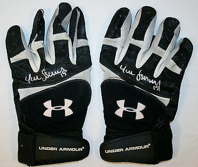 Yunel Escobar Authentic Signed Game Used Under Armour Batting Gloves