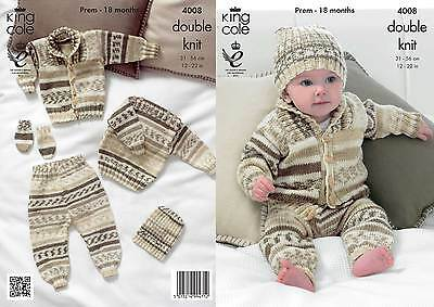 King Cole 4008 Knitting Pattern Outdoor Set in King Cole Cherish DK
