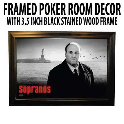 Poker Room art decor Framed Art  : The Sopranos (James Gandolfini Tony Soprano )
