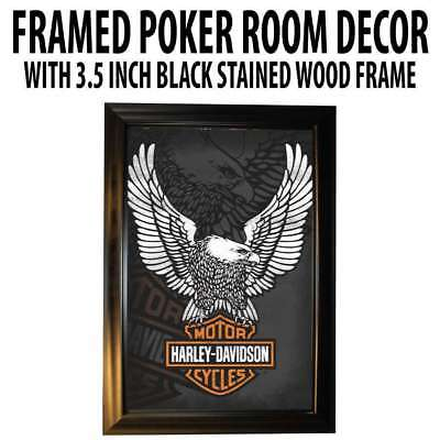 Poker Room art decor Framed Art  : Harley Davidson Motorcycles Eagle