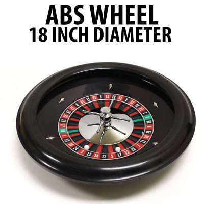 """18"""" ABS Roulette Wheel with 2 Roulette Balls"""