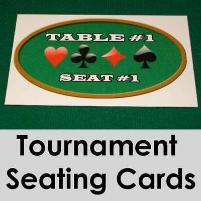 Tournament Seating Cards : Pack of 80