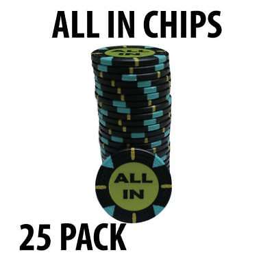 All In Poker chips Pack of 25
