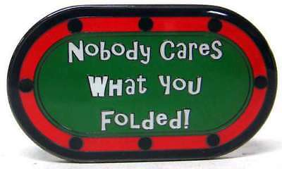 Poker Protector Card Guard Cover : Nobody Cares What You Folded