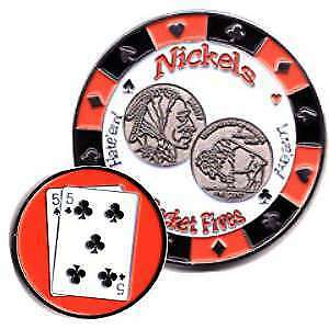 Poker Protector Card Guard Cover : 5-5 Nickels