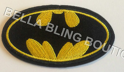 1 Embroidered Boys Batman Bat Man Iron On Sew On Patch Clothes Craft