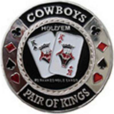 Poker Protector Card Guard Cover in Capsule :  Cowboys Sliver