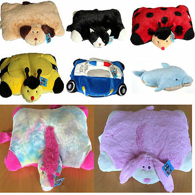 childrens super soft  animal 2 in 1 pillow bee dolphin unicorn