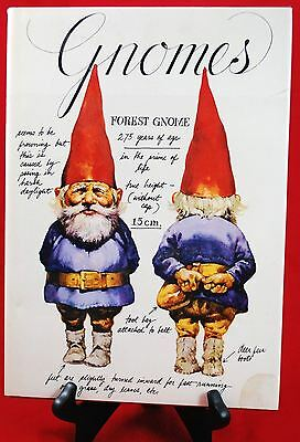 GNOMES BOOK by Wil Huygen  ILLUSTRATED by Rien Poortvliet  1977 1st Edition
