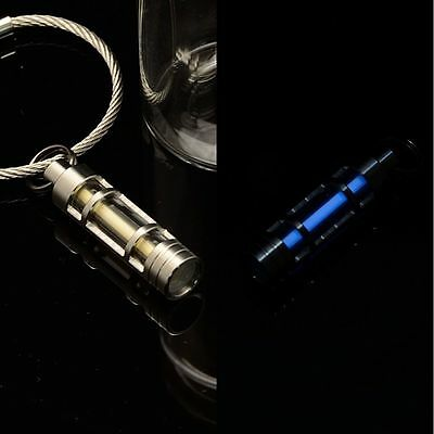 Titanium Tritium Fluorescence Light Keychain Autoluminescence 25 Years - Blue