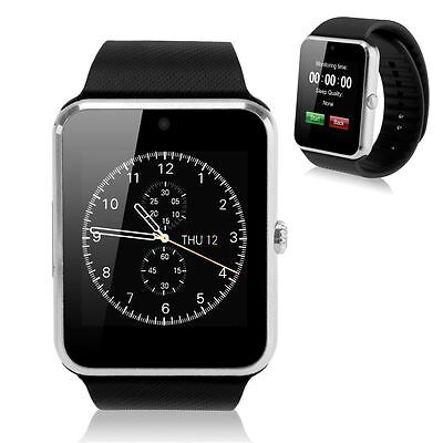 Smart Bluetooth Wrist Sport Watch SIM Phone Mate for IOS Android Samsung Silver