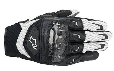 """Alpinestars SMX-2 Air Carbon """"Black/White"""" (Size Small) RRP £64.99 - Now £49.99"""