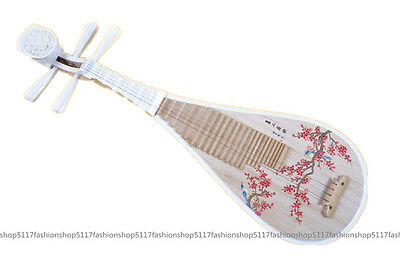 Pipa musical instrument hardwood white colored drawing child pipa lute Chinese