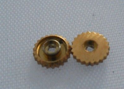 Omega Gold Plated Screw Back Unsigned Crown Excellent Replacement