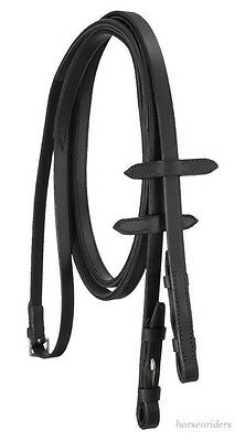 English Bridle Reins with Rubber Grip - Black