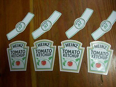 "Magician Vanishing Ketchup Bottle ""Static Cling"" Labels - 4 sets for $9"