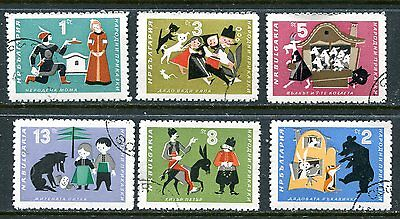 Bulgaria 1964 Fairy Tales - Animals Complete Set Of 6 Stamps!
