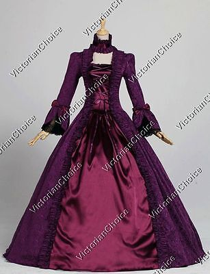 Renaissance Colonial Queen Gothic Holiday Party Gown Dress Theater Clothing 138