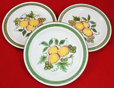 """Stangl Pottery Dinner Plates 'apple Delight' 10 1/8"""" - Lot Of 3 Plates"""