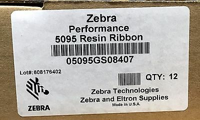 Zebra 05095GS08407 Resin Ribbon 3.31inx242ft 5095 High Performance 0.5in core
