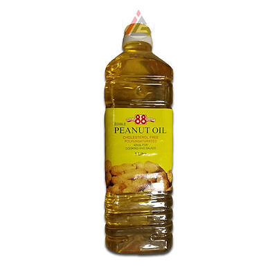 Double Eight (88) - Edible Peanut Cooking Oil (Cholesterol Free) - 1 Litre