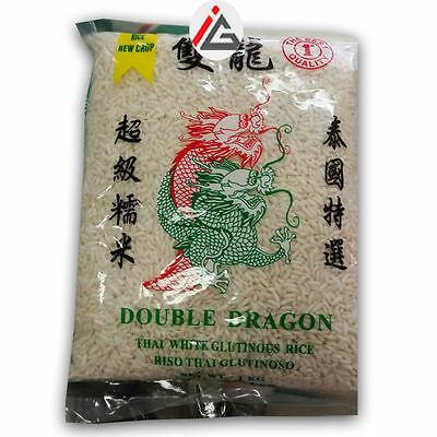 Double Dragon - Thai White Glutinous Rice - 1 KG