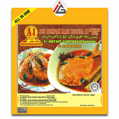 A1 Mountain Globe Brand - Instant Curry Sauce (Seafood) - 230 gm